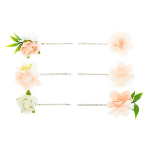 Bridal Flower Hair Pins - Blush Pink,