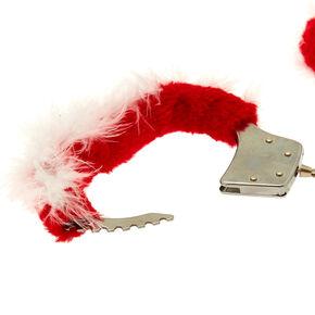 Fuzzy Santa Handcuffs - Red,
