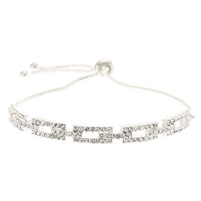 Silver-Tone Pull Knot Bracelet,