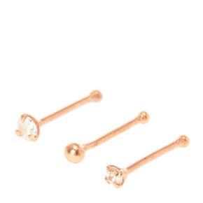 Rose Gold Nose Stud Set,