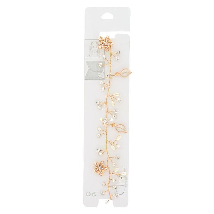2-In-1 Floral Belt & Headwrap - Gold,