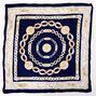 Chain Print Bandana Headwrap - Navy,