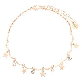 Rose Gold Star Banana Anklet,