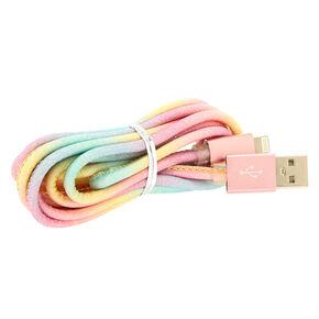 Pastel Glitter USB Cord,