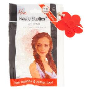 Clear Plastic Elastics & Cutter Tool,