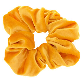 Velvet Hair Scrunchie - Mustard,