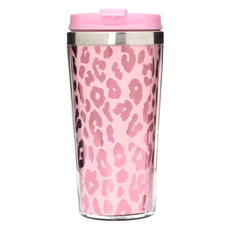 Metallic Leopard Travel Mug - Pink,