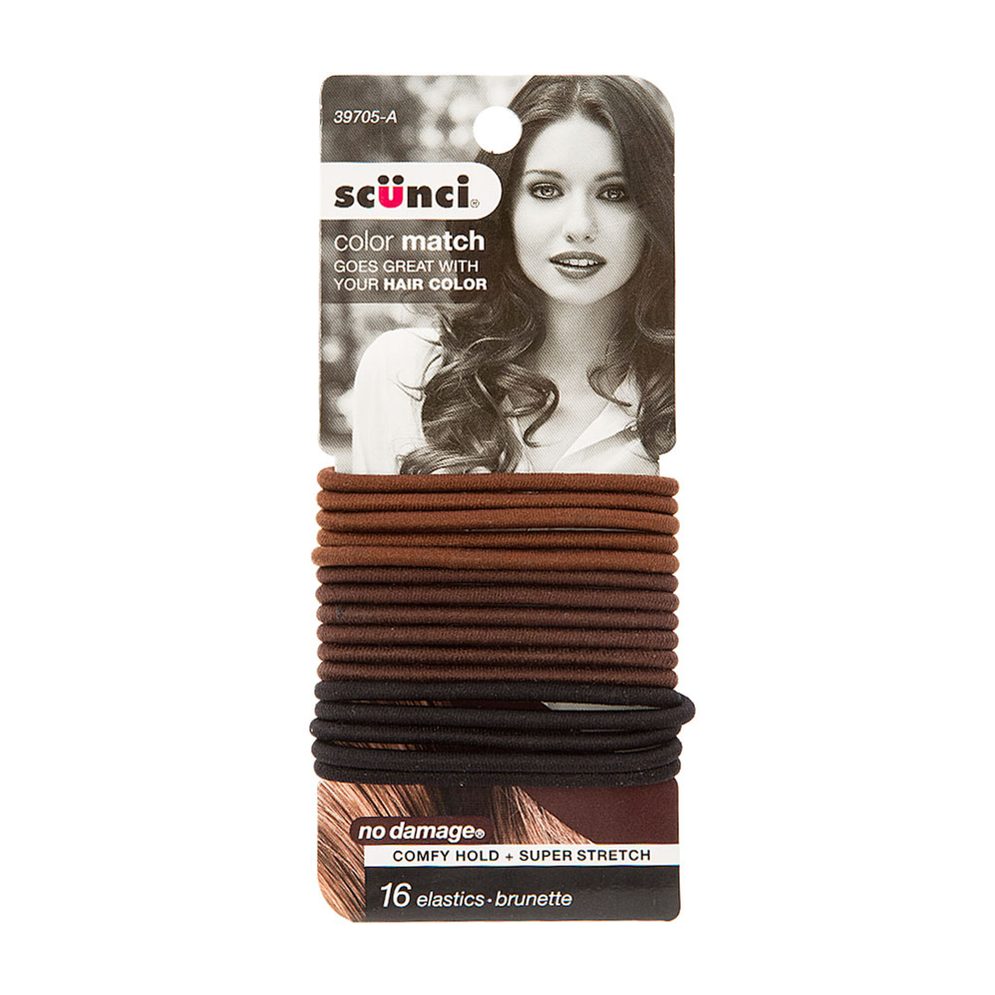 Color Match By Scunci Orted Brunette Hair Ties