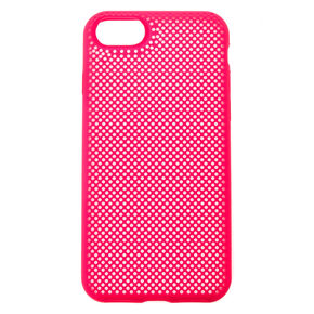 Hot Pink Perforated Phone Case - Fits iPhone 6/7/8,
