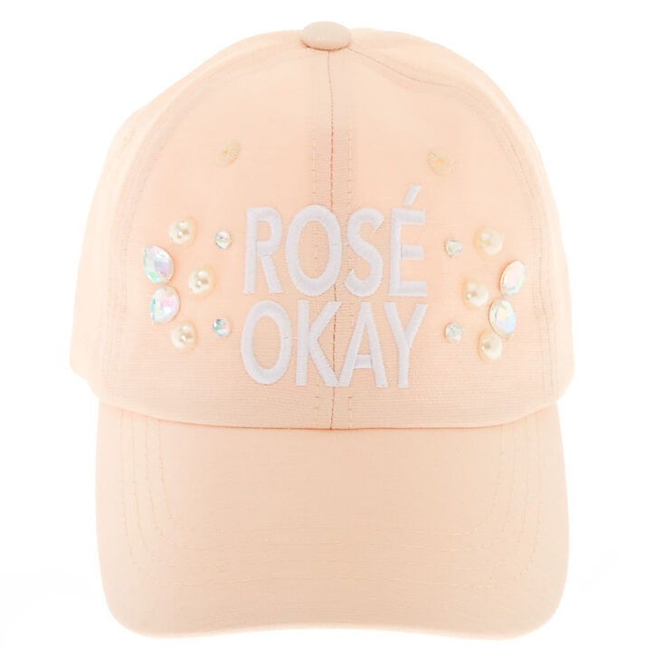 Baby Pink Rosé Okay Baseball Hat,
