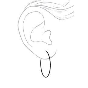 40MM Hoop Earrings - Black,