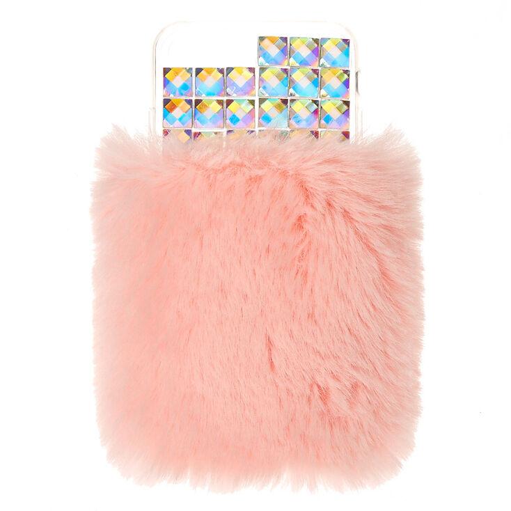 Pink Faux Fur Phone Case - Fits iPhone 6/7/8/SE,