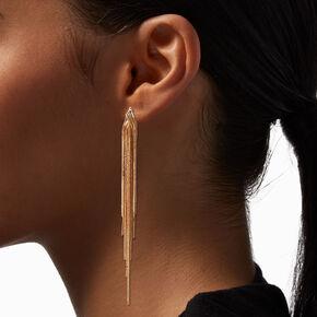 Gold Cross Double Hoop Earrings,