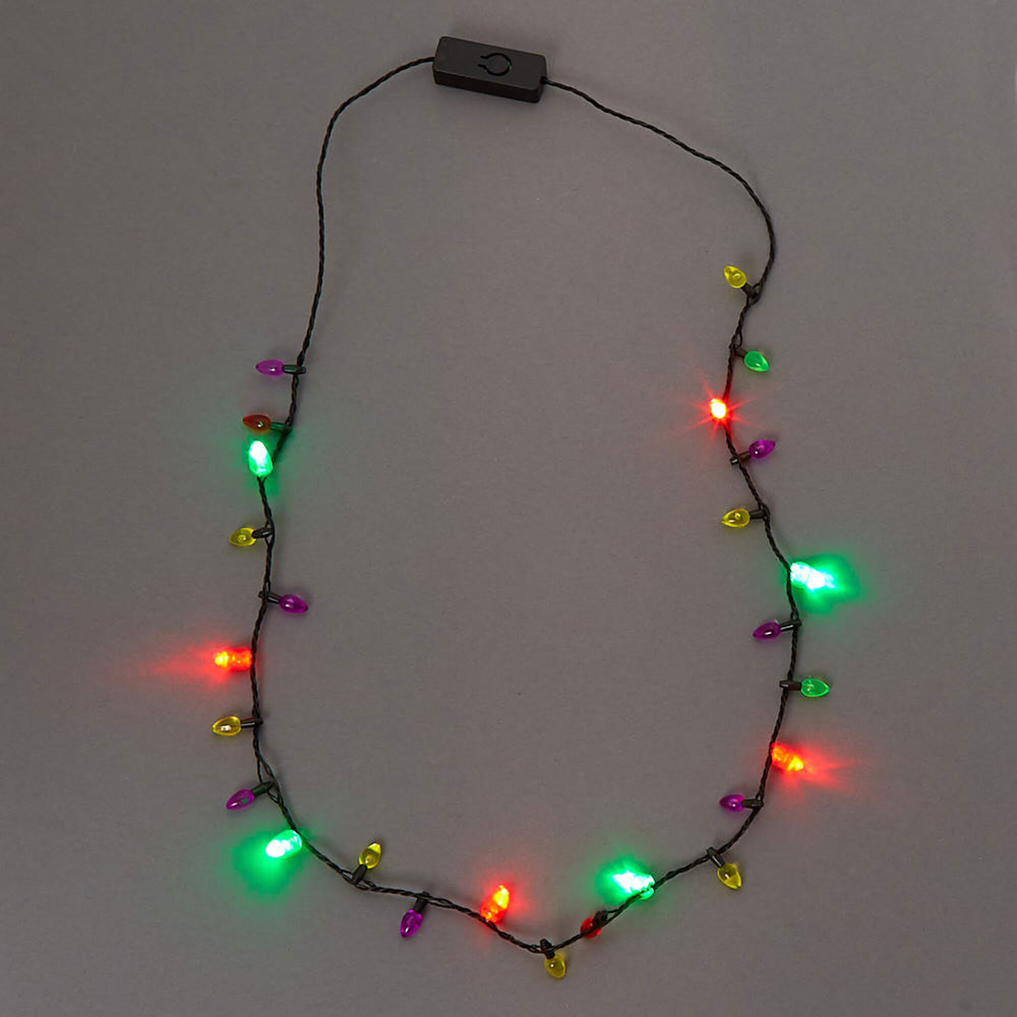 Christmas Light Necklace.Mini Christmas Lights Light Up Necklace
