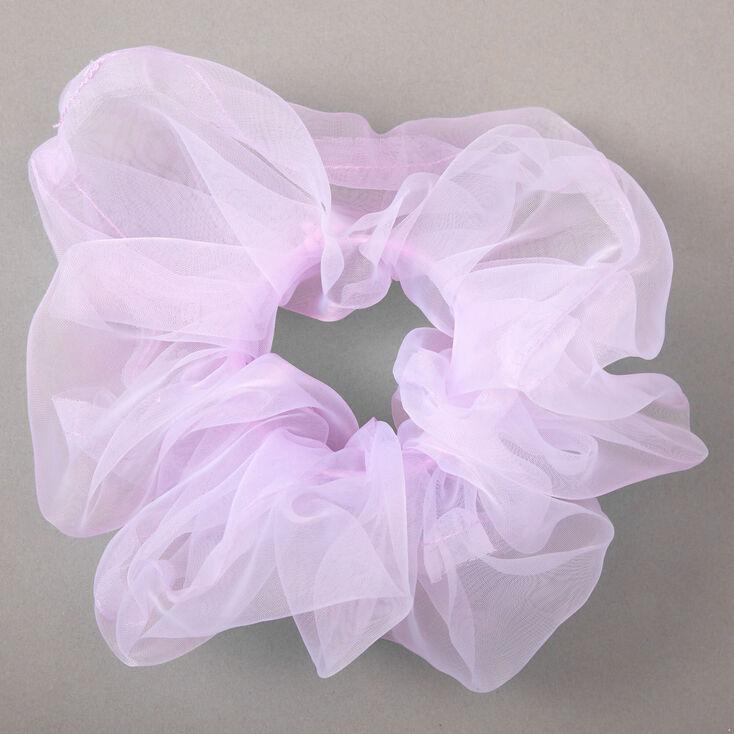 Giant Organza Hair Scrunchie - Purple,