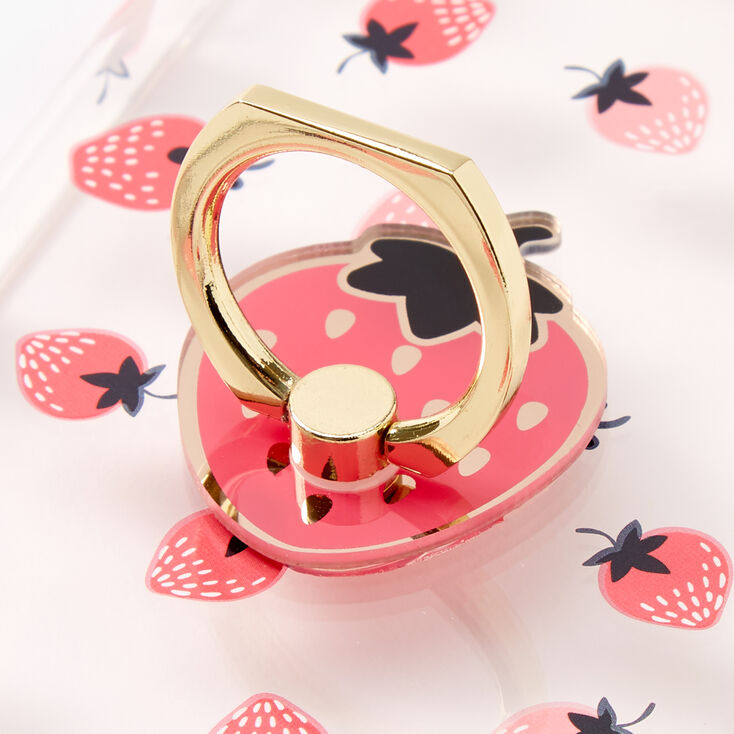 Strawberry Ring Holder Protective Phone Case - Fits iPhone® 6/7/8 Plus,