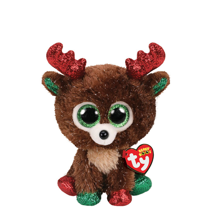 Ty Beanie Boo Small Fudge the Reindeer Plush Toy,