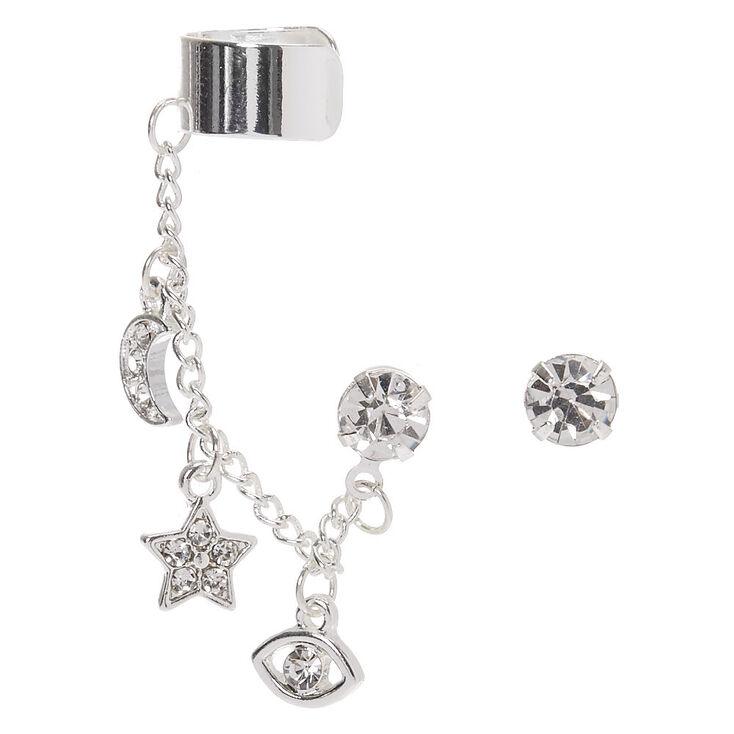 Silver Mystic Ear Connector Earrings,