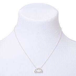 Silver Dream Cloud Pendant Necklace,
