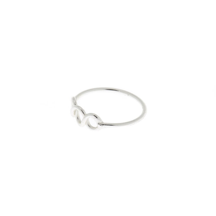 Sterling Silver Chain Link Nose Ring,