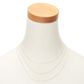 Silver Cord Multi Strand Necklace,