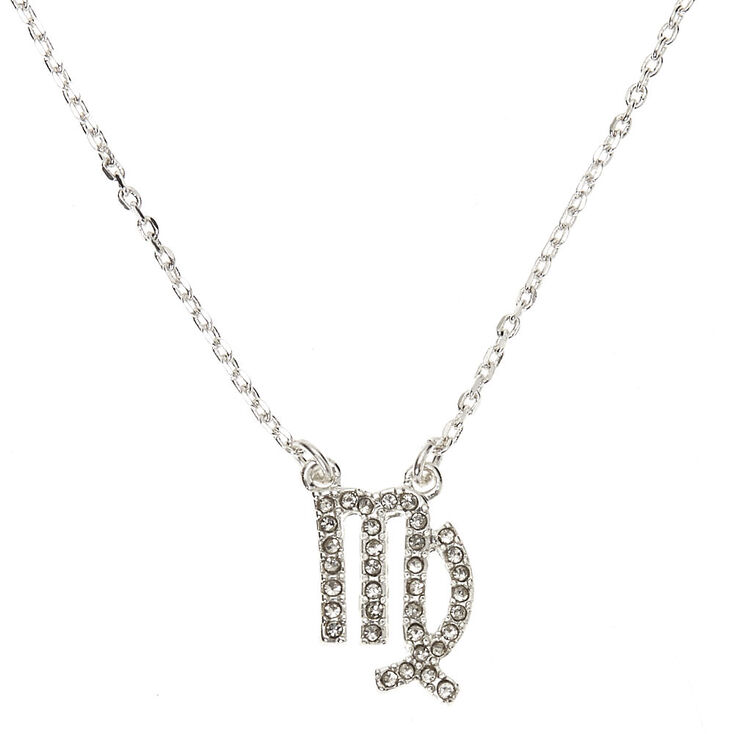 Silver Zodiac Pendant Necklace - Virgo,