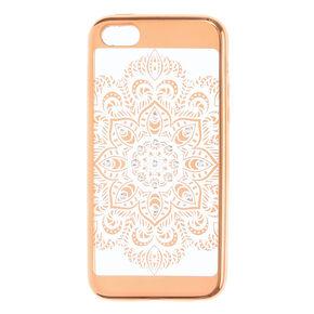 Gold Crystal Mandala Phone Case - Fits iPhone 6/7/8,