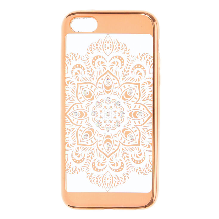 Gold Crystal Mandala Phone Case - Fits iPhone 6/7/8,