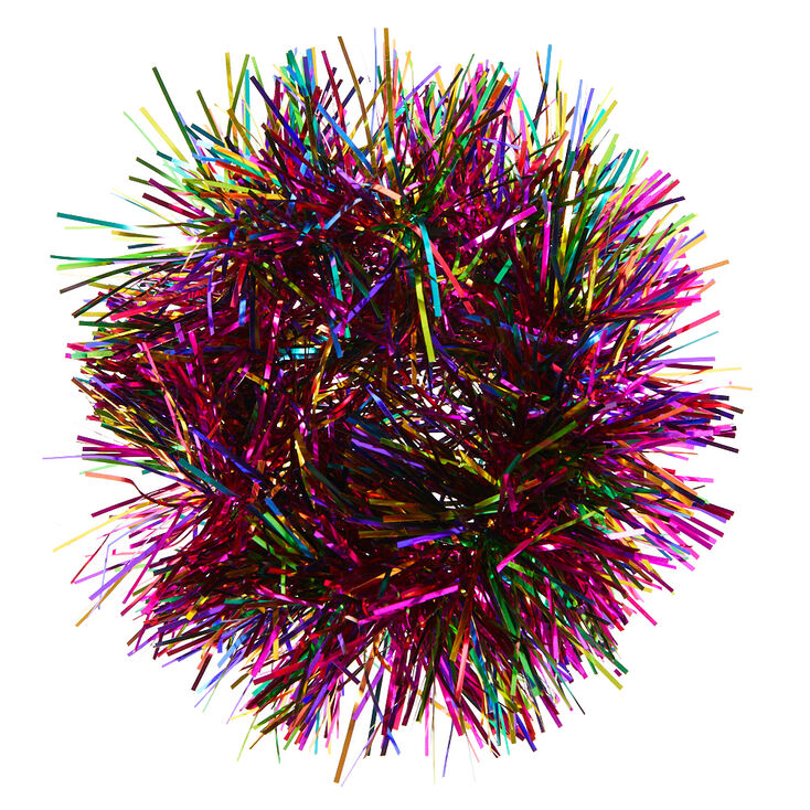 Rainbow Tinsel Hair Scrunchie,