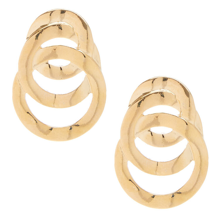 Gold-Tone Link Drop Earrings,