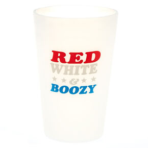 Red, White, & Boozy Silicone Cup,