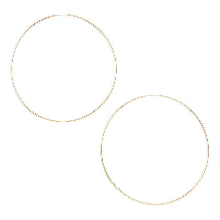 Gold Wire 60mm Hoop Earrings,