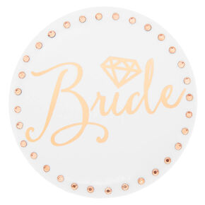 Rose Gold Bride Button,