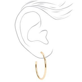 Gold Graduated Mixed Earrings - 20 Pack,