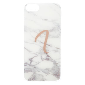 Marble I Initial Phone Case - Fits iPhone 6/7/8,