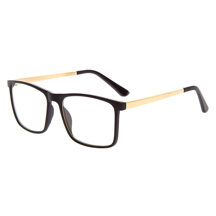 Matte Retron Clear Lens Frames - Black,