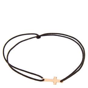 Rose Gold Cross Elastic Bracelet,