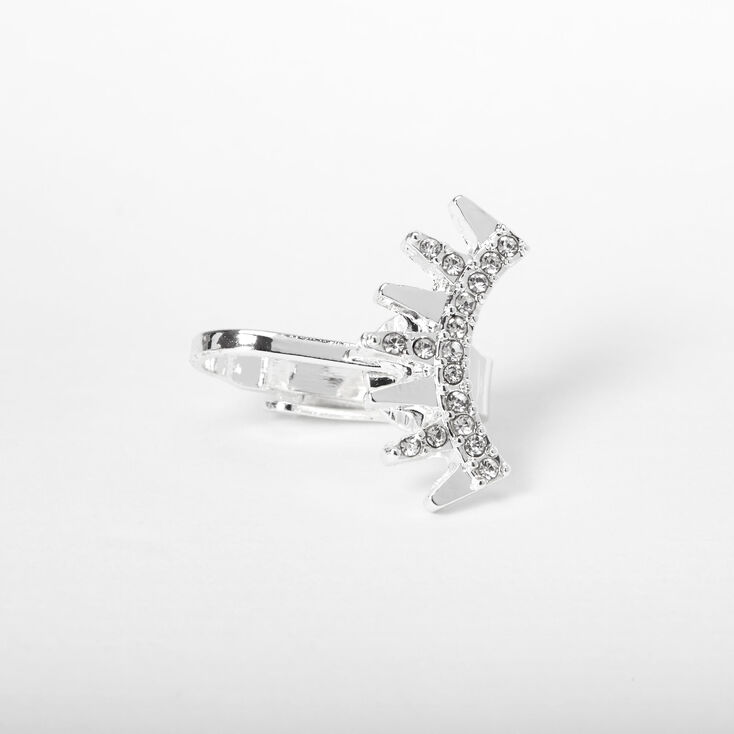 Silver Embellished Spike Ear Cuff,