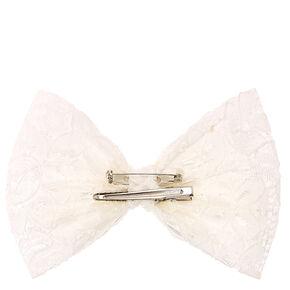 Ivory Bow Hair Barrette,