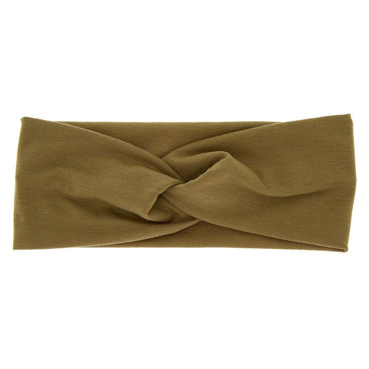 Wide Jersey Twisted Headwrap - Sage,
