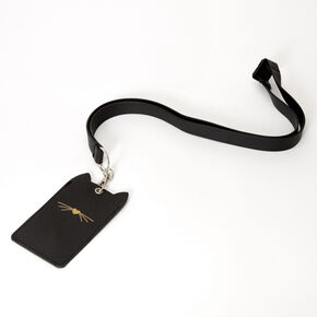 Cat Ears Lanyard - Black,