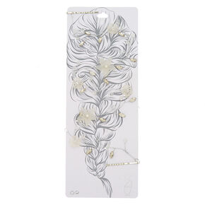 Silver Frosted Flower Hair Vine,