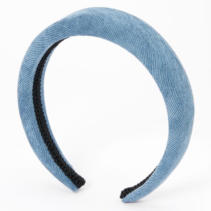 Cord Puff Headband - Blue,
