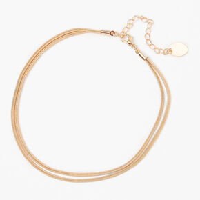 Gold Snake Chain Double Strand Anklet,
