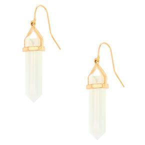 """Crystal Opalescent 1.5"""" Drop Earrings,"""
