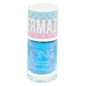 Mermazing Shimmer Nail Polish - Mermaid Blue,