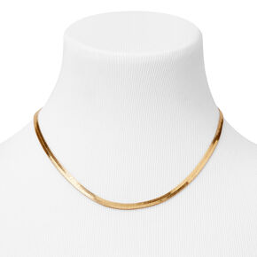Gold Wide Snake Chain Necklace,