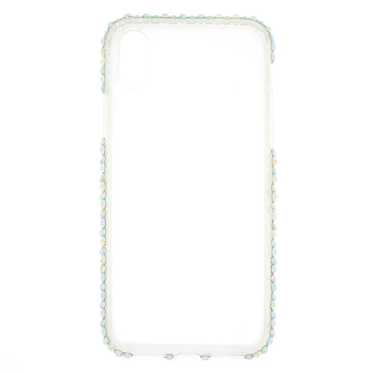 Iridescent Stone Studded Phone Case - Fits iPhone X/XS,
