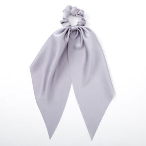 Satin Scarf Hair Scrunchie - Dusty Blue,