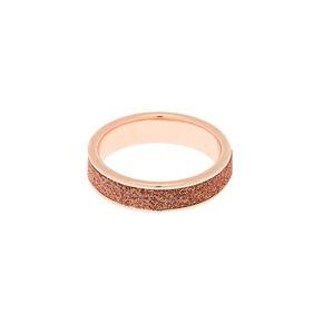 Rose Gold Glitter Midi Ring,